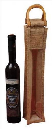 Jutová taška na slámové víno