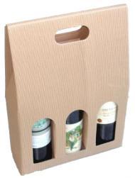 Papírová krabička na 3 láhve